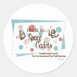Retro 'Space Cadets' Stickers