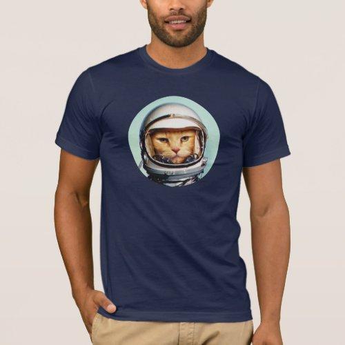 Retro Space Cat T_Shirt