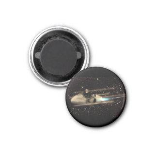 Retro Space cruiser 1 Inch Round Magnet