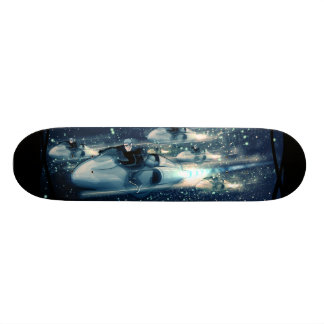 Retro Space cruiser  - The Race Skateboard Deck
