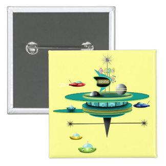 Retro Space Diner Pinback Button