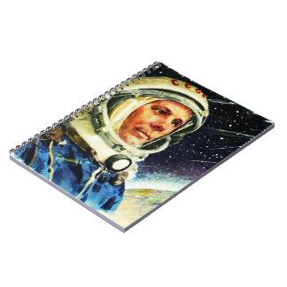 RETRO SPACE EXPLORATION ASTRONAUT NOTEBOOK