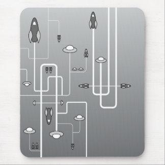 Retro Space Flight Mouse Pad