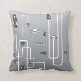 Retro Space Flight Pillow
