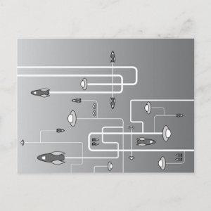 rockets postcard