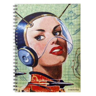 Retro Space Lady Notebook
