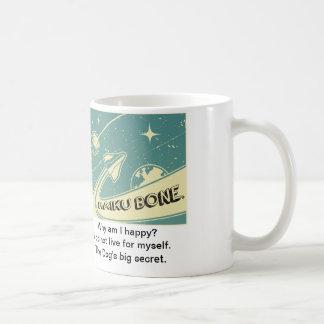 """Retro Space Logo """"The Dog's big secret"""" Classic White Coffee Mug"""
