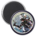 Retro Space Man Round Magnet