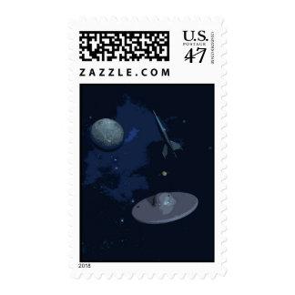 Retro Space Postage