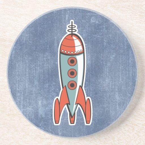 retro space rocket coaster