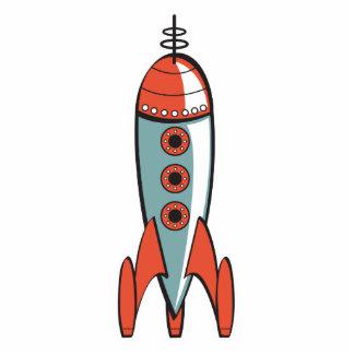 retro space rocket cutout