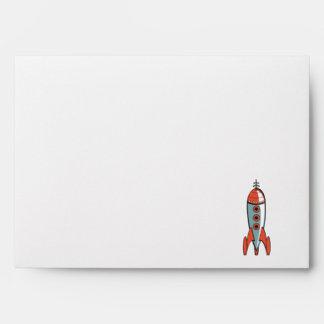 retro space rocket envelope