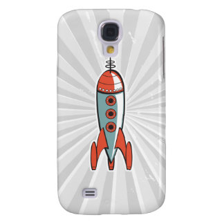 retro space rocket samsung galaxy s4 cover
