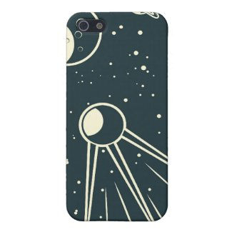 retro space sputnik iPhone 4 speck case Cases For iPhone 5