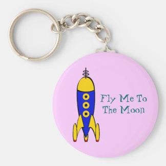 Retro Space Travel Key Chain