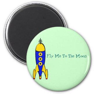 Retro Space Travel Magnet