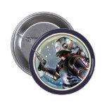 Retro Spaceman Round Button