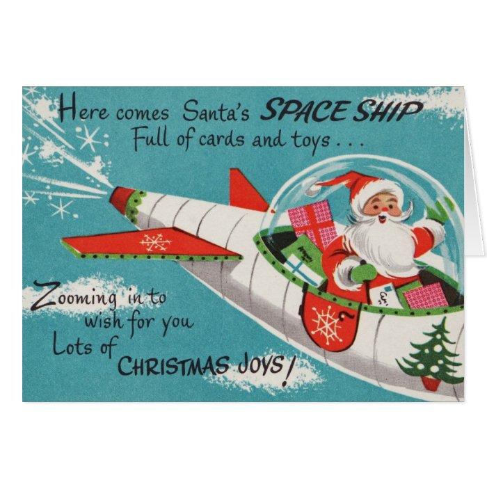 Christmas Santa Vintage Reproduction Postcard Zazzle