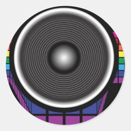 Retro Speaker Round Sticker