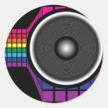 Retro Speaker Round Stickers
