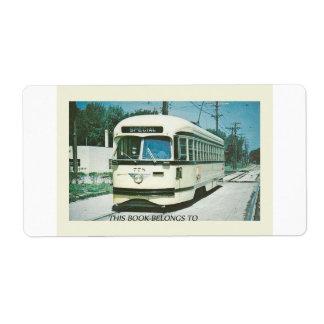 Retro Special Bus Book Plate