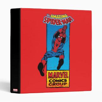 Retro Spider-Man Comic Graphic 3 Ring Binder