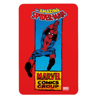 Retro Spider-Man Comic Graphic Magnet
