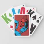 Retro Spider-Man Swinging Bicycle Playing Cards