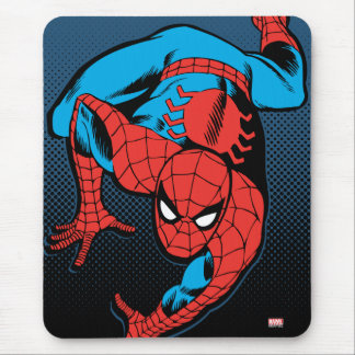 Retro Spider-Man Wall Crawl Mouse Pad