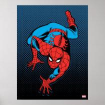 Retro Spider-Man Wall Crawl Poster