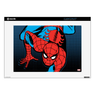 "Retro Spider-Man Wall Crawl Skin For 15"" Laptop"