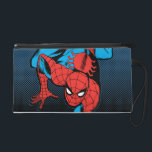 "Retro Spider-Man Wall Crawl Wristlet Purse<br><div class=""desc"">Check out this retro Spider-Man comic book art of him crawling down a wall.</div>"