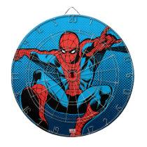 Retro Spider-Man Web Shooting Dartboard With Darts