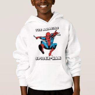 Retro Spider-Man Web Shooting Hoodie