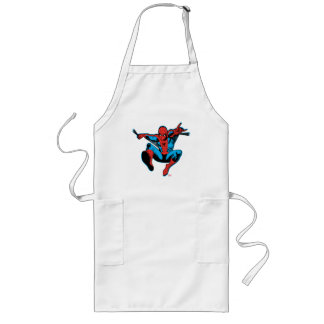 Retro Spider-Man Web Shooting Long Apron