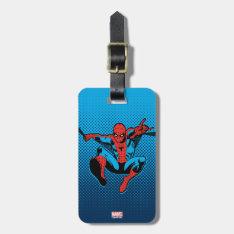 Retro Spider-Man Web Shooting Luggage Tag at Zazzle