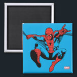 """Retro Spider-Man Web Shooting Magnet<br><div class=""""desc"""">Check out this vintage Spider-Man swinging and web shooting!</div>"""