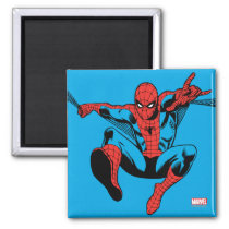Retro Spider-Man Web Shooting Magnet