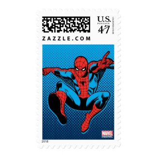 Retro Spider-Man Web Shooting Postage