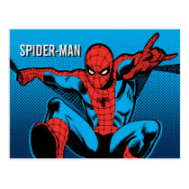 Retro Spider-Man Web Shooting Postcard