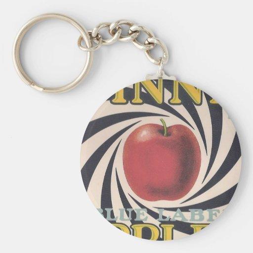 Retro Spinner Apple Brand KeyChain