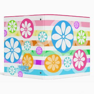 """Retro """"Spinwheels"""" Flowers Custom Binder"""