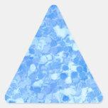 Retro Splash Blue Triangle Stickers