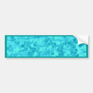 Retro Splash Turquoise Teal Bumper Sticker