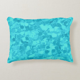 Retro Splash Turquoise Teal Decorative Pillow