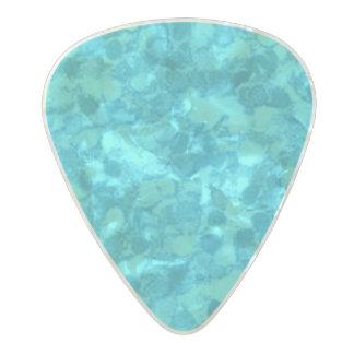 Retro Splash Turquoise Teal Pearl Celluloid Guitar Pick