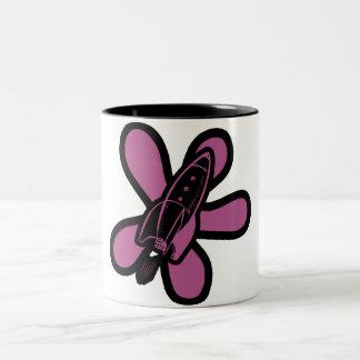Retro Splat Rocket Black Pink Coffee Mug