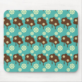 Retro splatter kawaii cloud pattern mouse pad