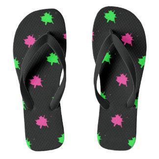 Retro Splattered Flip Flops