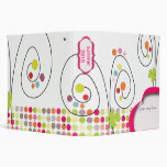 Retro spring flowers with polka dots binder